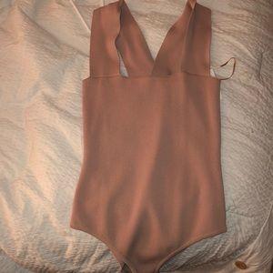 LF SEEK the label bandage bodysuit {blush}